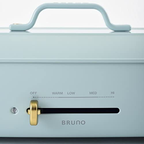 BRUNO ブルーノ ホットプレート グランデ サイズ 本体 プレート2種 (たこ焼き 平面) ブルーグレー Blue Gray おすすめ おしゃれ かわいい これ1台 蓋 ふた付き 温度調節 洗いやすい 4人 5人用 大型 大きいサイズ 多人数 ワイド 幅約50㎝ BOE026-BGY