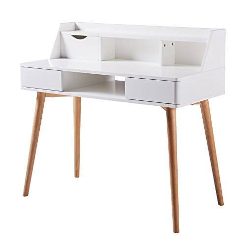 Versanora - Creativo Stylish Desk - White/Natural