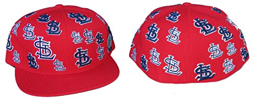 St. Louis Cardinals TRICK TRADE Fitted Size 7 5/8 Cooperstown Collection Hat Cap - Red