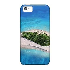 Unique Design Iphone 5c Durable Tpu Case Cover Isl Blue Sailboat