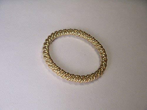 Gorgeous Estate 18K Yellow Gold Twisted Rope Designer Wedding Band Ring