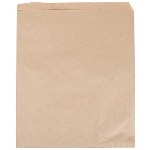 A1BakerySupplies Premium Quality Kraft Paper Bags Flat Merchandise Bags Made in USA 100pack (15 in X 18 in) -