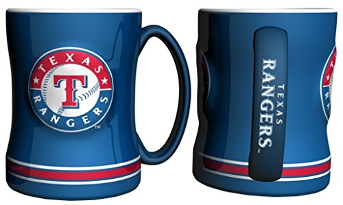 Mug Coffee Rangers (Texas Rangers Coffee Mug - 14oz Sculpted Relief - Blue)