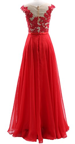 Chiffon Cap Long MACloth Dress Silber Dress Prom Illusion Wedding Party Lace Sleeves Hgwqw0U