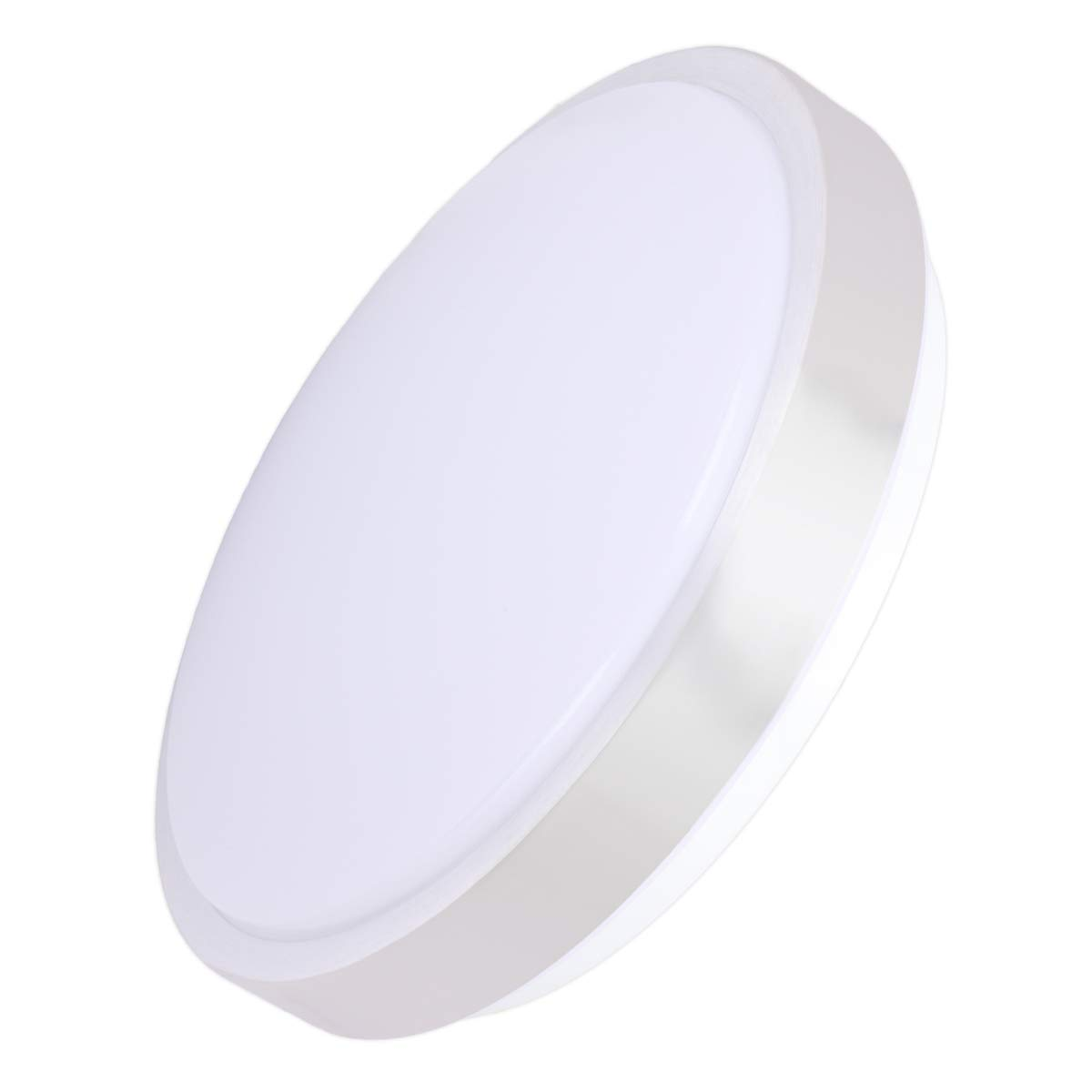Drosbey 15W LED Flush Mount Ceiling Light, Mini Style 8in, 120W Incandescent Bulbs Equivalent, 1500 Lumens, 5000K Daylight White, Round Lighting Fixture for Kitchen, Hallway, Bathroom, Bedroom by Drosbey