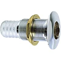 PERKO 035006ADPC / Perko 1-1/8 Thru-Hull Fitting f/ Hose Chrome Plated Bronze Made in the USA