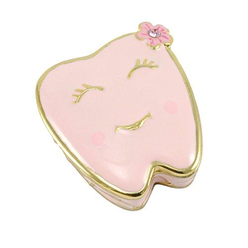 Tooth Keepsake - Welforth Pink Tooth Trinket Box Model No. J-150