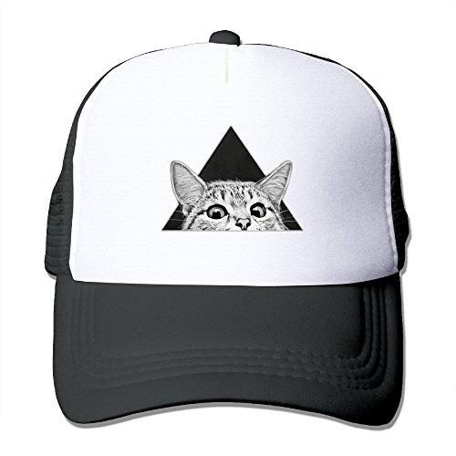 Cat Is Watching You Adjustable Printing Snapback Mesh Hat Unisex Adult Baseball Mesh Cap (Cat Hat Trucker)