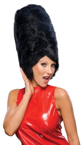 Rubie's Costume Fabulous 50's Beehive Wig, Black, One Size (Beehive Costume Wig)