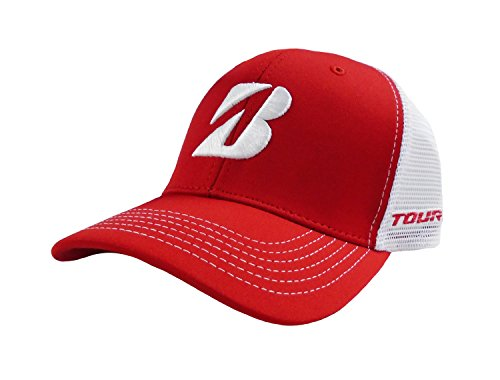 - Bridgestone New Golf Mesh Color Block Red/White Adjustable Hat/Cap
