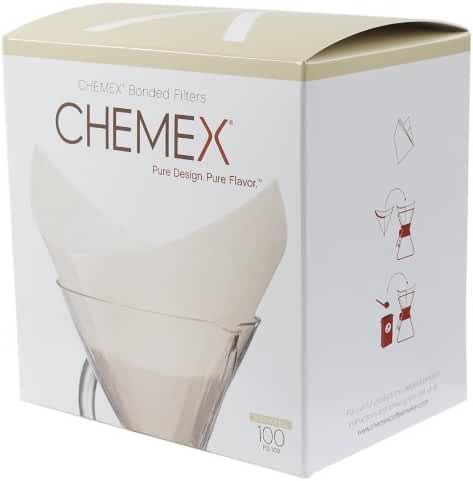 Chemex FS-100 Coffee Filters with 100-Chemex Bonded Filter Squares