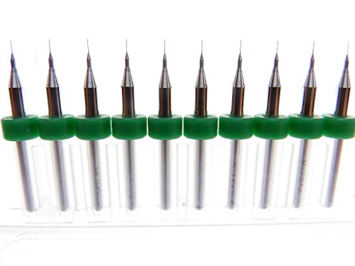 Versatile Tungsten Micro Drill Bits Japanese made for CNC PCB Dremel Installation, Toy Making, Model Cars Trucks Planes Boats, Arts & Crafts, Woodworking more... (.15mm)