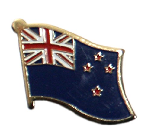 (Ted and Jack - Show Your Pride in Your Nation Metal and Ceramic Lapel Pin - New Zealand)