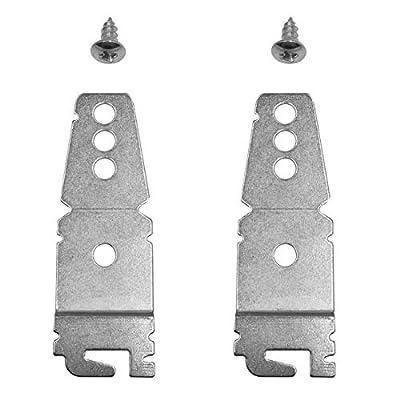 2-Pack Dishwasher Mounting Bracket w/screws   Universal Brackets for Kenmore Kitchenaid Frigidaire, Maytag, LG, Bosch Dishwashers   Under-Counter Mounting Bracket   Compare to parts 8269145/WP82691