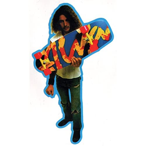 ALVA Patins TA Splatter Skateboard Autocollant–Bleu Edge–15.5cm de haut env. officielle Old School Reissue NEUF SK8