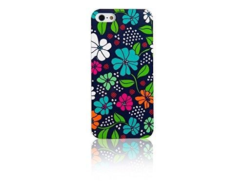 Spada coque iMD 008783 smartphone de protection d'écran pour iPhone 5/5S noir/motif fleurs