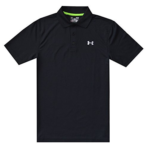 Under Armour Men UA Golf Performance Logo Polo T-Shirt (L, Black) ()
