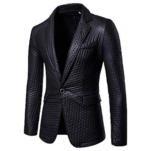 Jacket Blazer Sport Coat Slim Single Breasted Slim Dress Casual Suit Sport Jacket Stylish Men's (XL,12#Black)