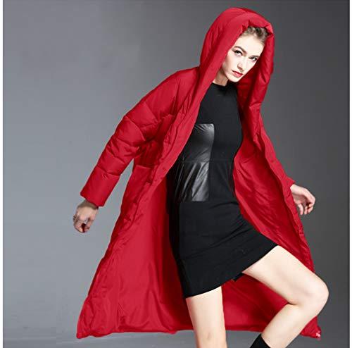 Mantener Con Abajo Ropa Mujer Invierno Xsqr Capucha Red Caliente Larga Chaqueta Abrigo Sección Rompevientos Espesar De APIqf