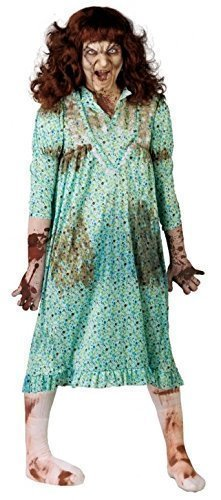 New Mens Ladies Possessed Girl Child Exorcist Halloween Fancy Dress Costume Outfit (UK 16-18) -