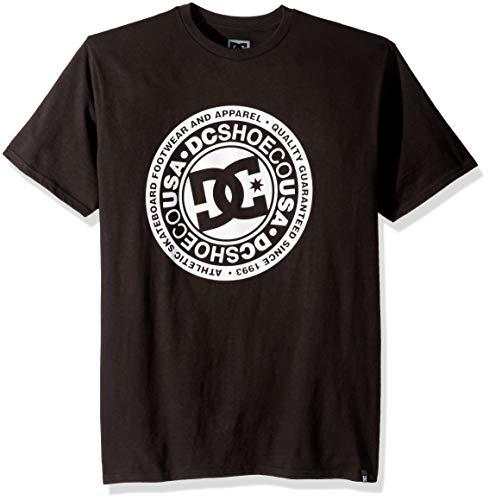 DC Men's Circle Star Short Sleeve, Black, XL