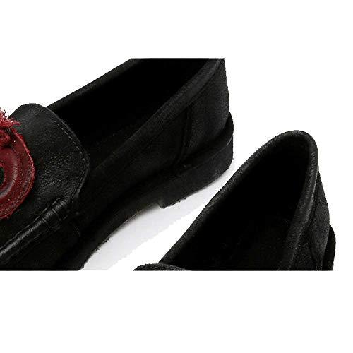 Tendance Portable Chaussures Décontracté ZPEDY Femmes Rétro Black pour Confortable Personnalité Yfqgw1q