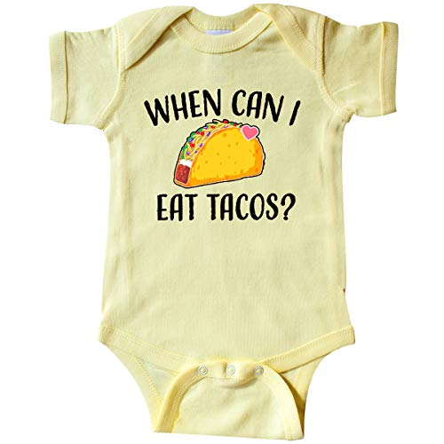 inktastic - When Can I Eat Tacos Infant Creeper 12 Months Banana Yellow 34116