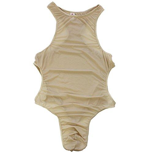 9e8906643b1 iniim iiniim Mens Side Cut-Outs Thong Leotard Mankini Gymnastics Bodysuit  Swimsuit Sportswear