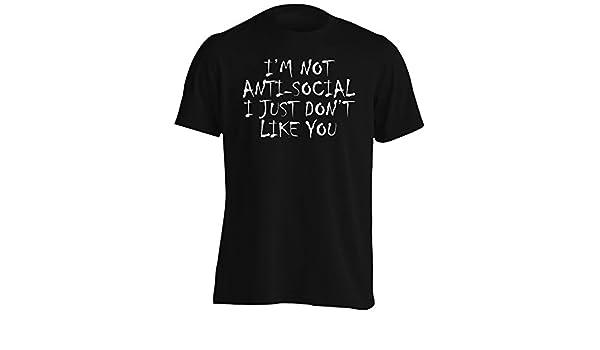 INNOGLEN No Soy Antisocial Simplemente no me Gusta Camiseta de los Hombres ii44m: Amazon.es: Ropa y accesorios