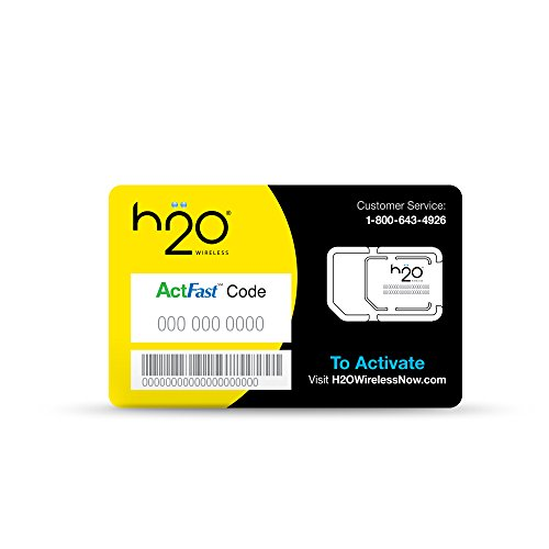 H2O SIM Card for H2O Wireless - Retail Packaging - Yellow ...