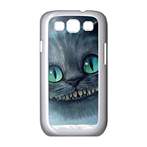 Cool Cheshire Cat Quotes We Are All Mad Here Environmental Lightweight Hard Printed case cover for Samsung Galaxy S3 I9300 -White030901