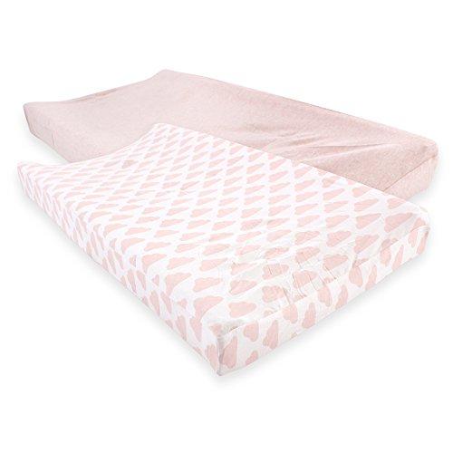 Hudson - Funda de algodón para cambiador de bebé, Heather Pink Cloud, Una talla