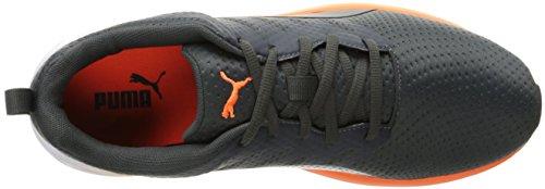 Puma Mens Flare Nylon Cross-Trainer Shoe Asphalt/Shocking Orange