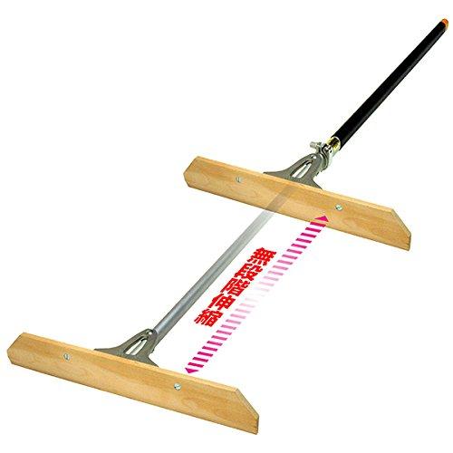伸縮式レーキ シモダトンボ伸縮式 ロングタイプ 引板:スチール製(幅60cm) B01B41BXEU 引板スチール製(幅60cm)  引板スチール製(幅60cm)