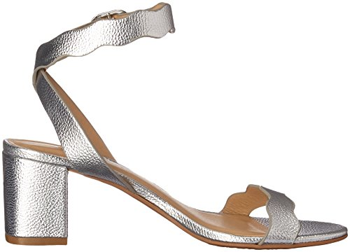Sandal Heeled Metallic CL Silver Laundry Women's Jessenia Chinese by SwvvBqYp