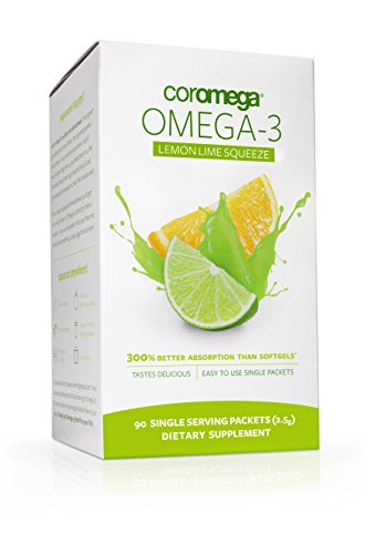 Coromega  Omega-3 Fish Oil, Lemon Lime, 90 ct