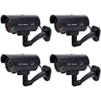 YaeKoo Pack Of 4 IR Bullet Fake Dummy Surveillance Security Camera