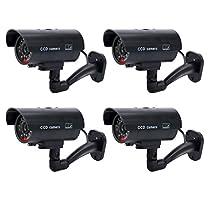 YaeKoo Pack Of 4 IR Bullet Fake Dummy Surveillance Security Camera