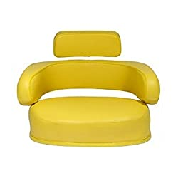 JD6000-SET (3 Pc) Yellow Vinyl Seat Cushion Set Fo