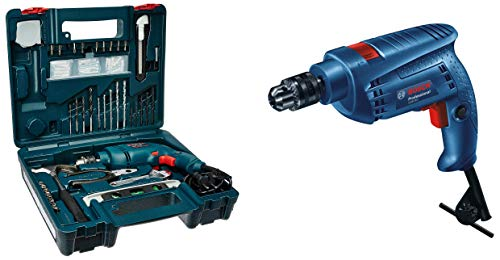Bosch GSB 500W 10 RE Professional Tool Kit, MS and Plastic (Blue, Pack of 100)&Bosch GSB 501 500-Watt Professional Impact Drill Machine (Blue) Price & Reviews