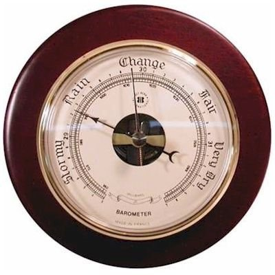 Brass Precision Barometer on Cherry Wood