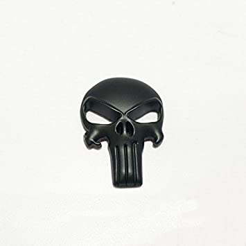 3D Tactical Skull Punisher Metal Decal Sticker for Gun Magwell Magazine Vehicle