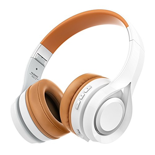 Kopfhörer, NUBWO S1 Bluetooth 4.1 On-ear Deep Bass Hi-Fi Stereo Faltbares Multifunktionelles Headset Handfree mit Mikrofon Unterstützen TF Karte Kompatibel mit Smartphone/Tablet/PC/Smart TV(Weiß)