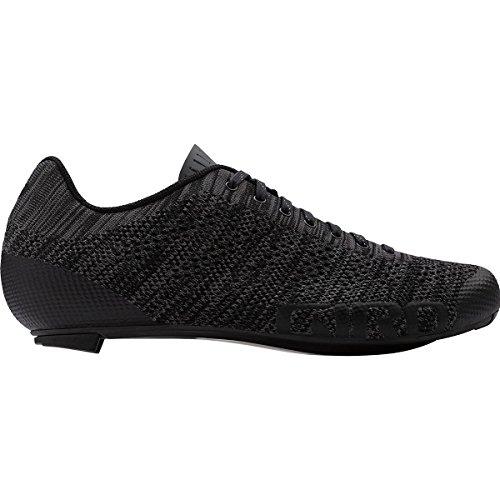 Bike Ec70 Carbon (Giro Empire E70 Knit Cycling Shoes - Men's Black/Charcoal Heather 45)