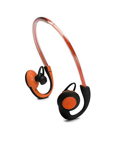 BOOMPODS 発光 Bluetooth ワイヤレス イヤホン iPhone スマホ ハンズフリー 世界唯一3モード発光機能搭載 sportpods (オレンジ)