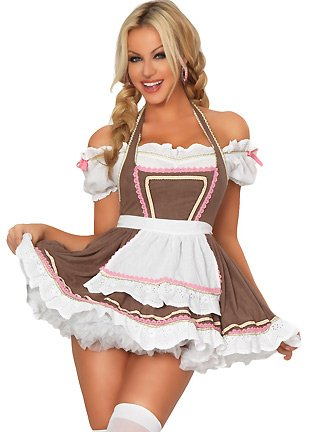 Wishes alpine ale girl costume oktoberfest sexy beer