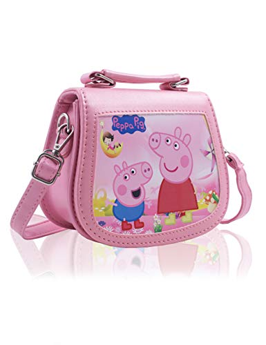 FINEX Little Pig Pink Premium PU Leather Small Crossbody Cute Shoulder Handbag Toy Purse Travel Bag for Toddler Children Kids Preschoolers Baby Little Girls Age 2-8 Years Old -