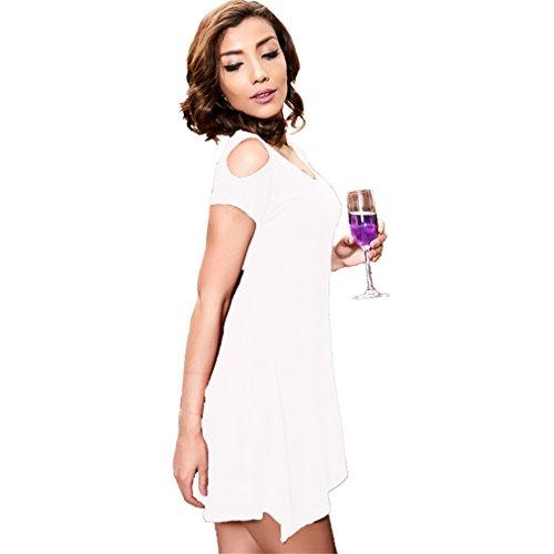 Dresses Shoulder Casual Garden PH168027 Beauty Mini White Off Women AY6qqw1