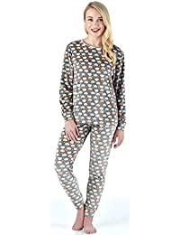 Frankie & Johnny Women's Sleepwear Super Soft Fleece 2-Piece Pajamas PJ Set