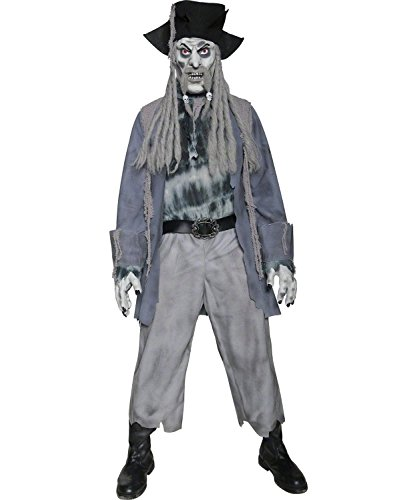 [Smiffys Men's Zombie Ghost Pirate Costume] (Ghost Baby Halloween Costume)